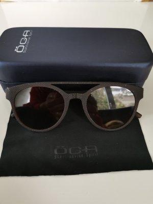 Okrągłe okulary przeciwsłoneczne brązowy