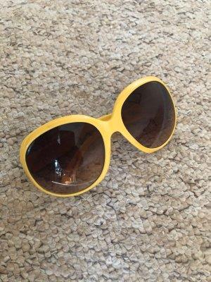 H&M Gafas de sol redondas naranja dorado-marrón oscuro