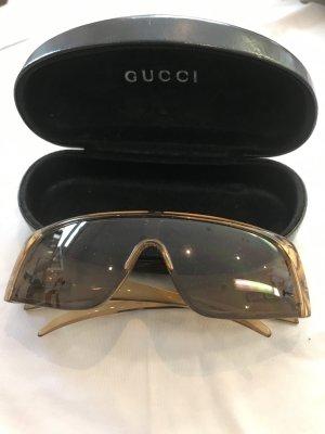 Gucci Angular Shaped Sunglasses ocher-gold-colored