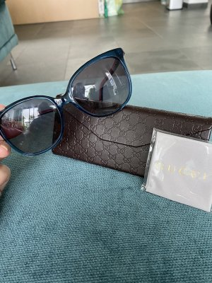 Gucci Oval Sunglasses red-blue