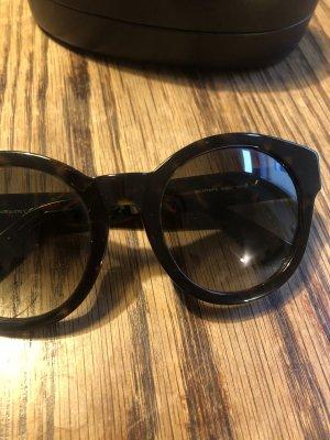 Gucci Ronde zonnebril zwart-zwart bruin