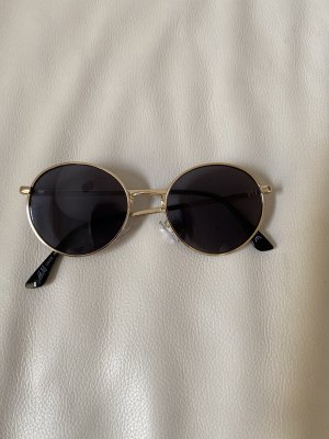 H&M Occhiale da sole rotondo nero-oro