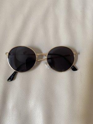 H&M Gafas de sol redondas negro-color oro