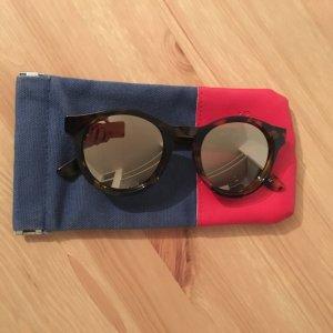 Le Specs Gafas de sol marrón-color oro