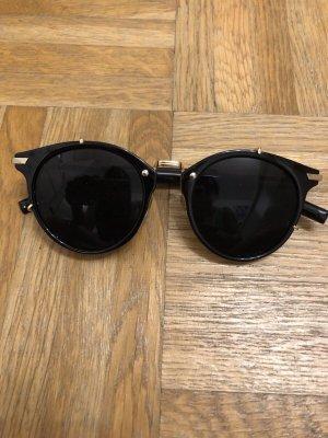 Okrągłe okulary przeciwsłoneczne czarny