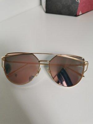 Sonnenbrille in rosé