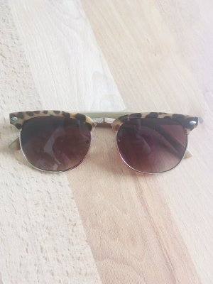 Primark Okulary retro ciemnobrązowy-czarno-brązowy