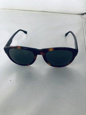 Lacoste Hoekige zonnebril zwart-bruin