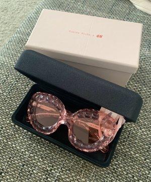 H&M Owalne okulary przeciwsłoneczne jasny różowy-różowy