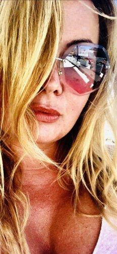 Round Sunglasses pink-blue