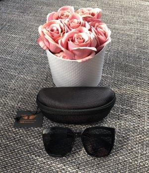 Kwadratowe okulary przeciwsłoneczne czarny