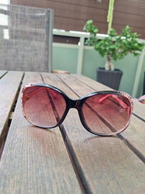 Okrągłe okulary przeciwsłoneczne brąz-w kolorze różowego złota