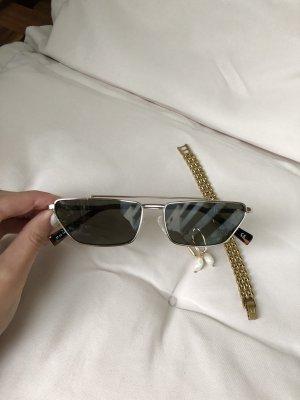 Le Specs Okulary retro złoto-khaki