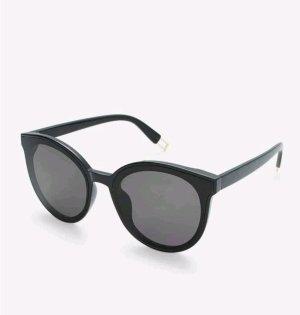 SheIn Owalne okulary przeciwsłoneczne czarny-złoto