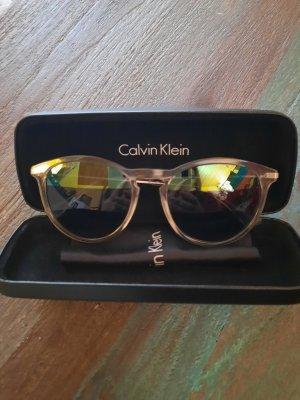 Calvin Klein Occhiale da sole ovale argento-blu acciaio