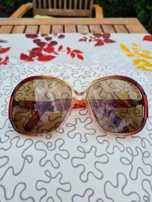 Owalne okulary przeciwsłoneczne piaskowy brąz-rudy