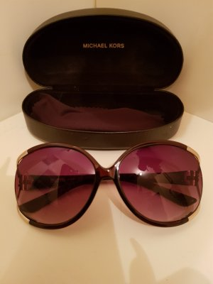 Michael Kors Oval Sunglasses gold-colored-dark brown