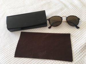 Persol Gafas de sol redondas marrón claro-marrón oscuro vidrio