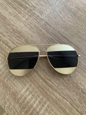 Pilotenbril zwart-goud