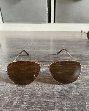 Sonnenbrille pilotenbrille nerdbrille Fensterglas rosa braun Gold Silber
