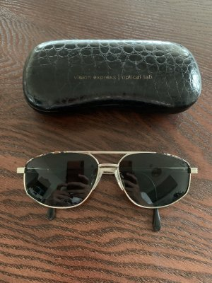 Aviator Glasses silver-colored-grey mixture fibre