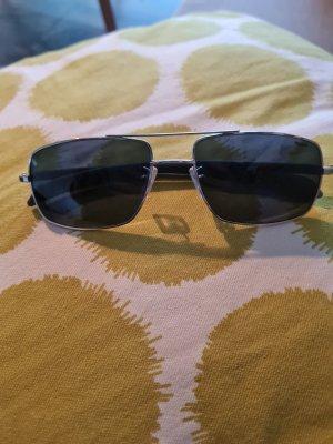 Police Kwadratowe okulary przeciwsłoneczne czarny-srebrny