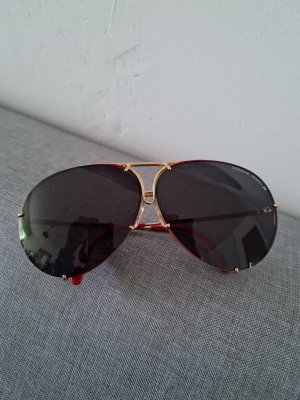 Porsche Design Gafas de sol cuadradas rojo