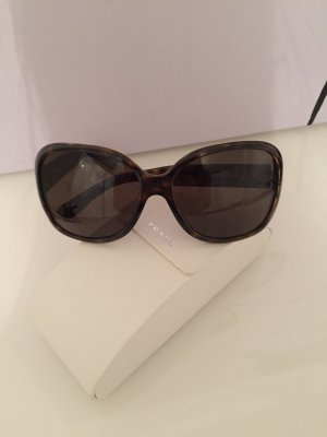 Prada Ovale zonnebril donkerbruin