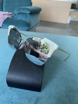 Prada Angular Shaped Sunglasses light grey