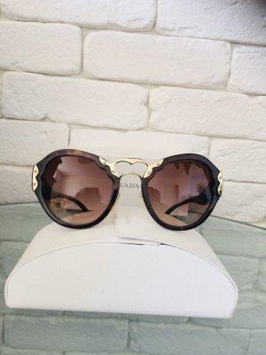 Prada Gafas mariposa marrón oscuro-color oro
