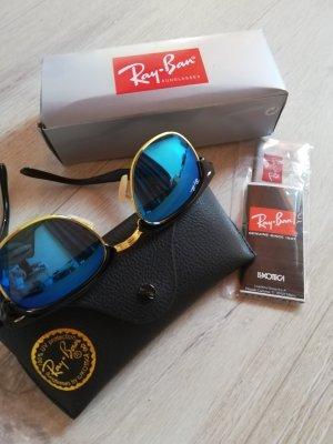 Ray Ban Angular Shaped Sunglasses black-blue