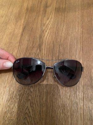 Ray Ban Aviator Glasses silver-colored-dark blue