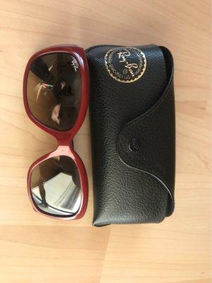 Ray Ban Owalne okulary przeciwsłoneczne bordo-ciemny fiolet
