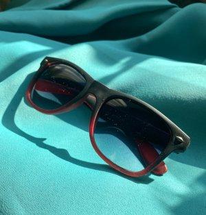 Ray Ban Okulary retro czarny-czerwony