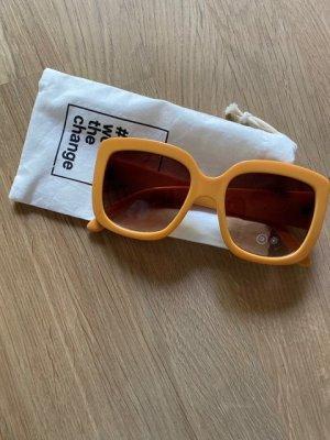 C&A Retro Glasses light orange mixture fibre