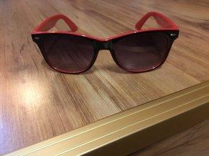 C&A Gafas de sol cuadradas negro-rojo ladrillo