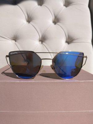 Sonnenbrille royalblau/gold