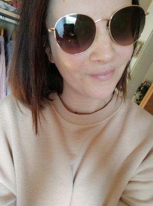 Comma Gafas de sol redondas color oro