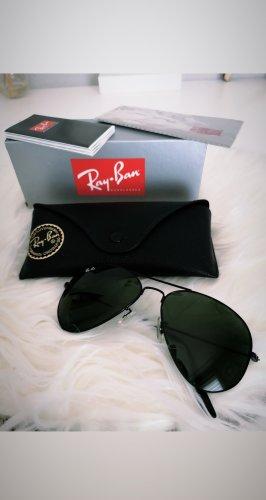 Sonnenbrille schwarz Aviator Ray Ban Rayban Pilotenbrille schwarz blogger hipster boho