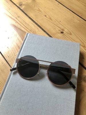 Asos Gafas de sol redondas negro-color bronce metal
