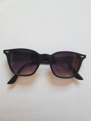 New Yorker Lunettes de soleil ovales noir