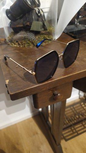 Angular Shaped Sunglasses black-gold-colored