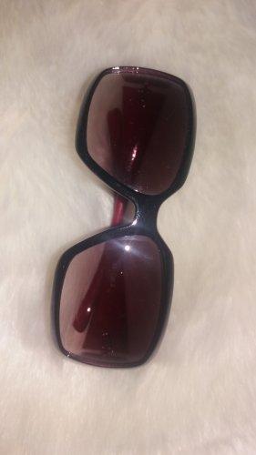 Sonnenbrille schwarz rot