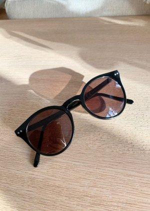 Sonnenbrille schwarz schlicht elegant rund & other stories