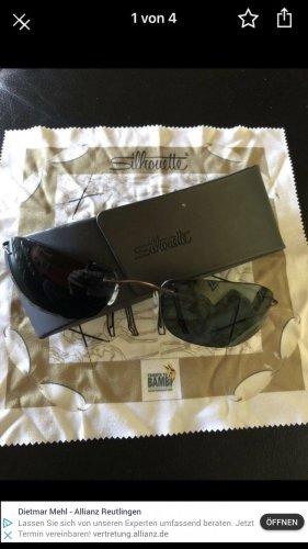 Silhouette Gafas de sol ovaladas negro