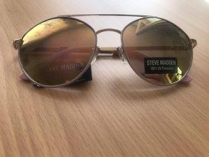 Steve Madden Gafas de piloto color rosa dorado