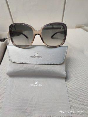 Swarovski Occhiale da sole ovale grigio-grigio scuro