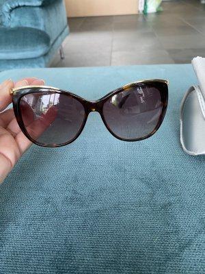 Swarovski Oval Sunglasses brown-gold-colored