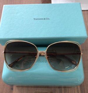 Tiffany&Co Kwadratowe okulary przeciwsłoneczne złoto