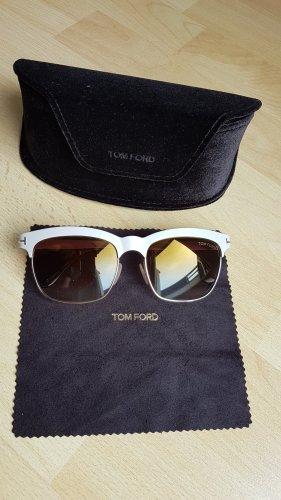 Tom Ford Occhiale da sole spigoloso color oro rosa-marrone